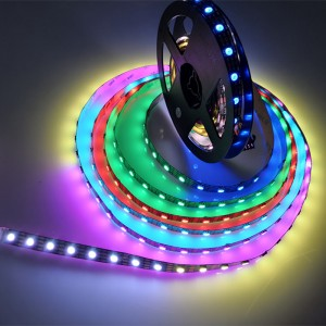 DC5v led strip  hd107s 5050 rgb tape with PWM refersh Rate 27KHZ Transmission Rate:40MHZ