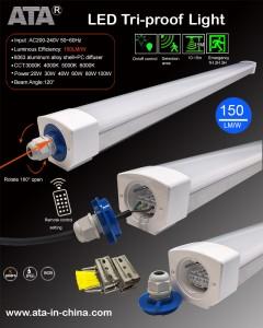 20w 30w 36w 40w 50w 60w 70w 100w 2ft 4ft 5ft 6ft 8ft LED Tri-proof light